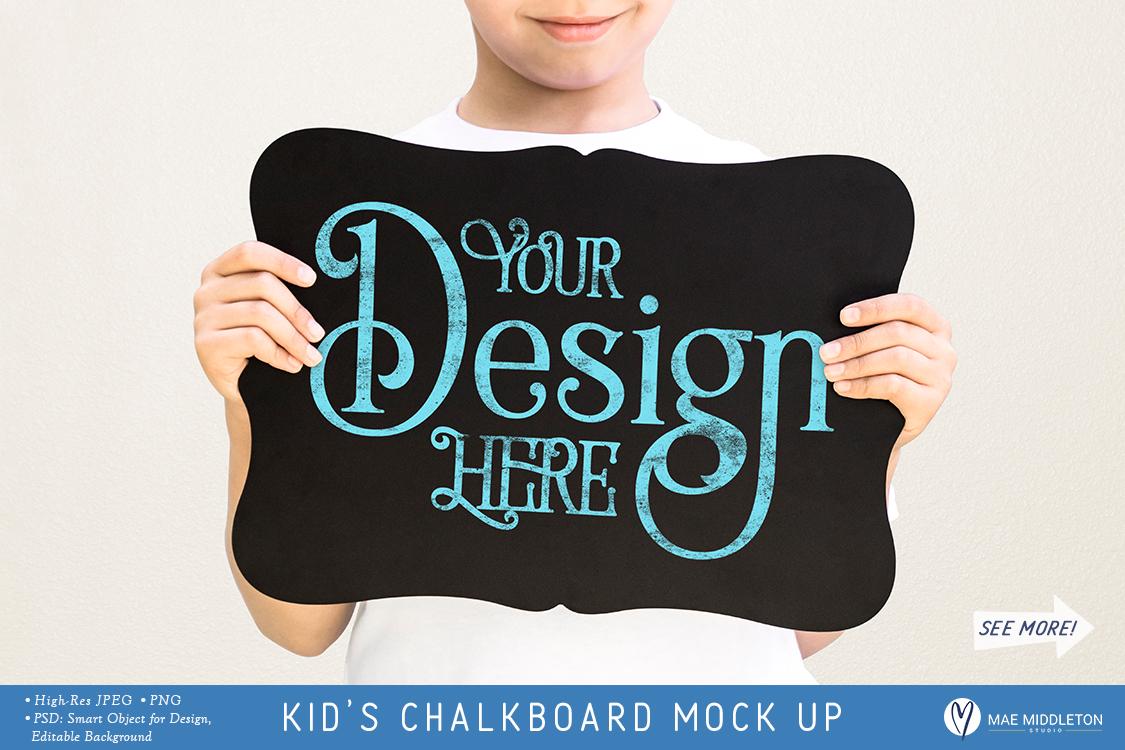 Kid's Chalkboard Mock up - milestone example image 1