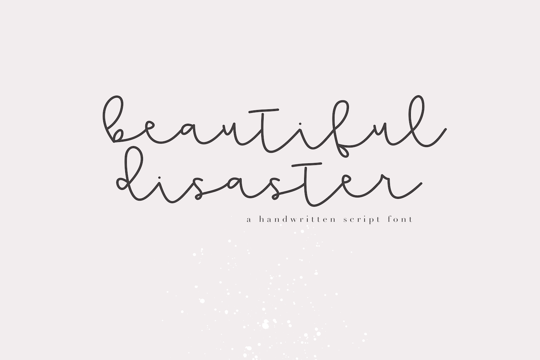 Beautiful Disaster Script - Handwritten Font example image 1