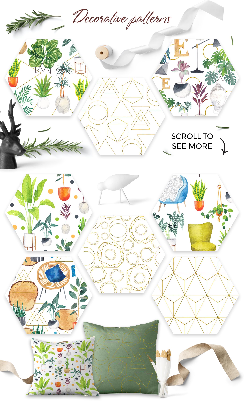 Scandi house plants interior creator example image 6