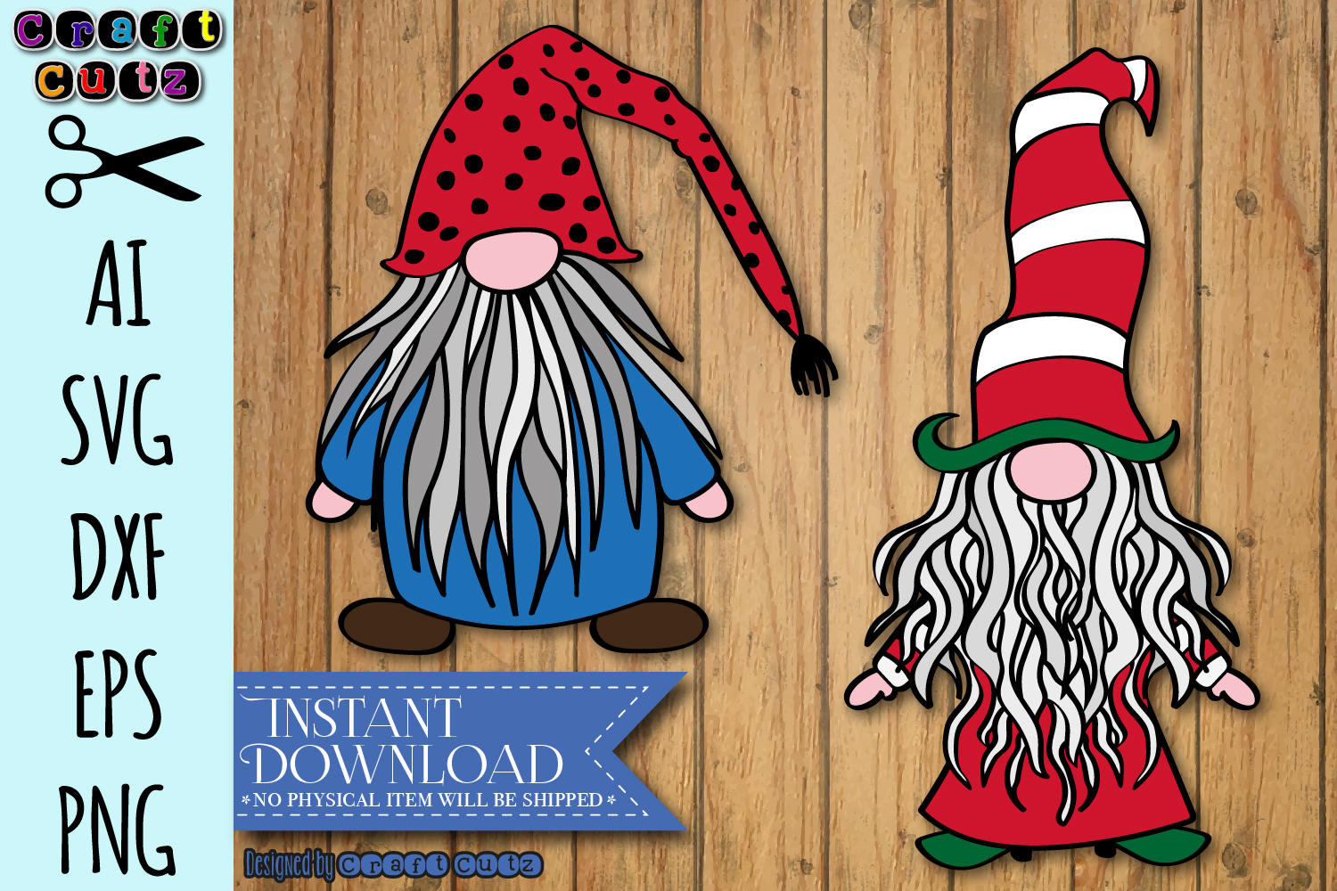 Cute Gnome SVG, Christmas Gnome, Gnome with Striped Hat svg example image 1