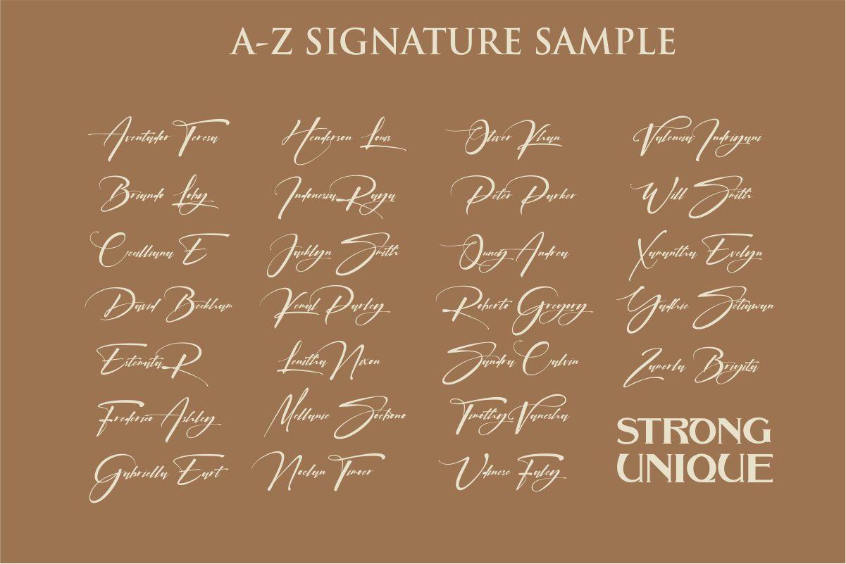 signatrue |elegant signature|bold example image 7