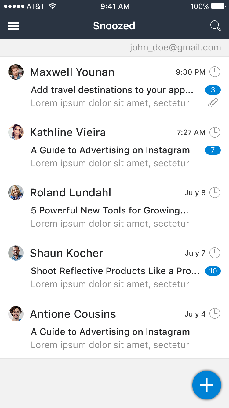 Snooze Mail UI Graphic example image 16