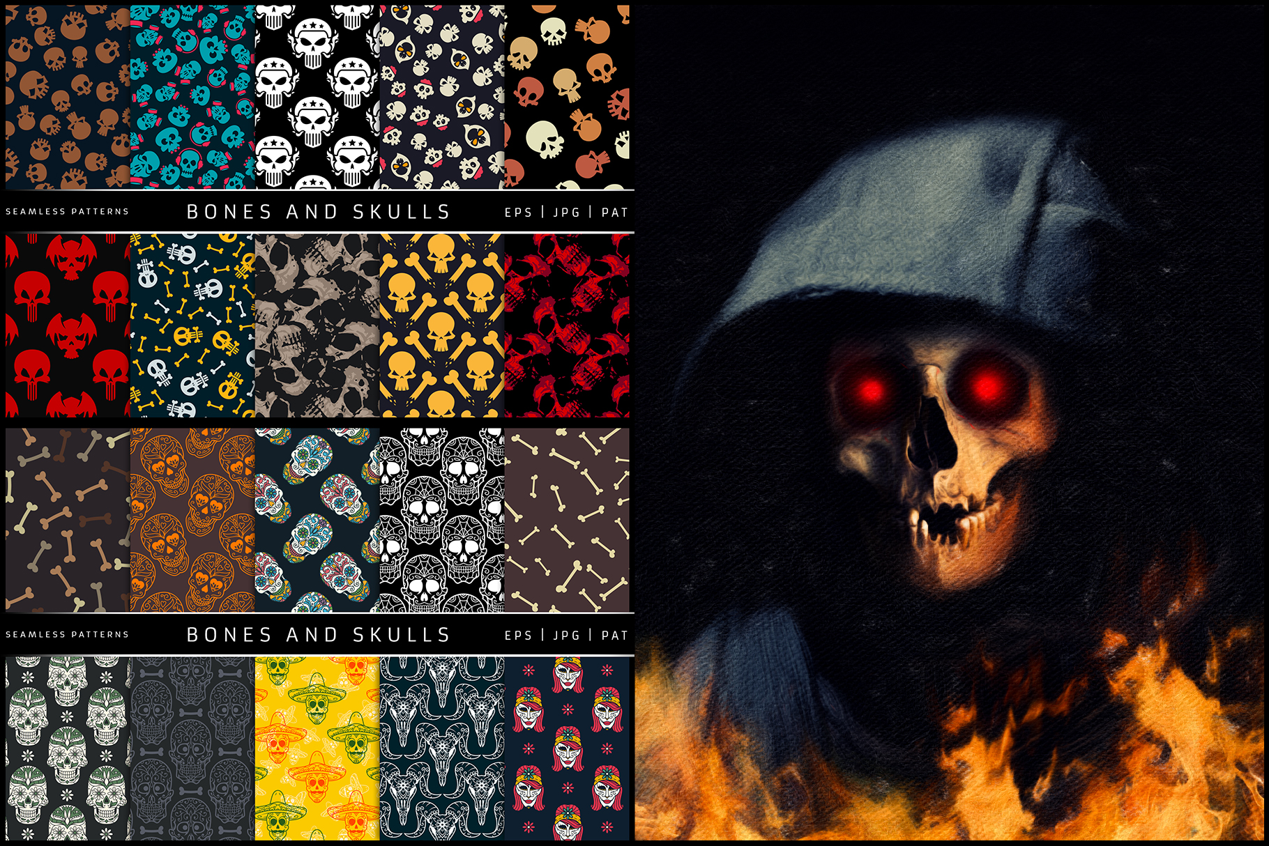100 Seamless Patterns Vol.3 Halloween example image 5