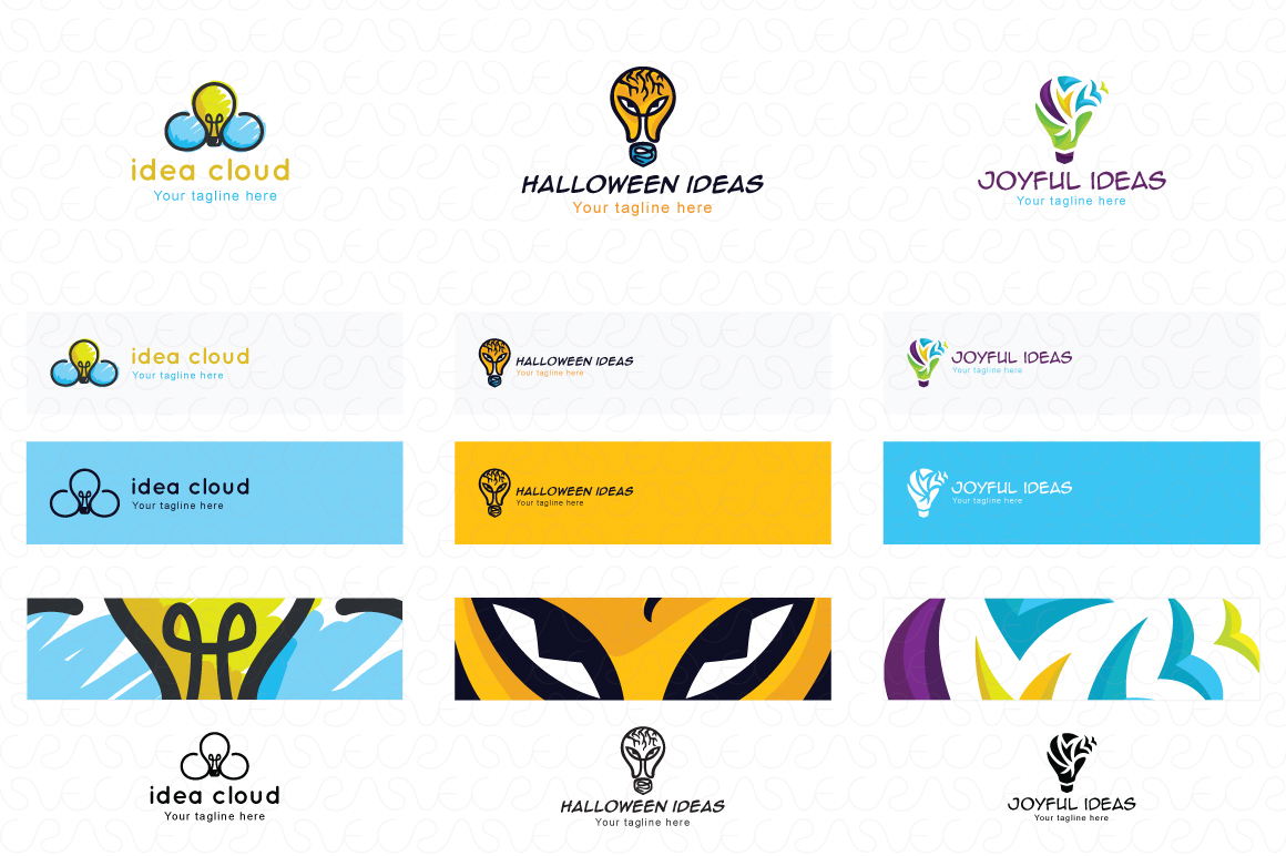 Ideas Bulb Logo Templates Pack of 13 Awesome unique designs example image 5