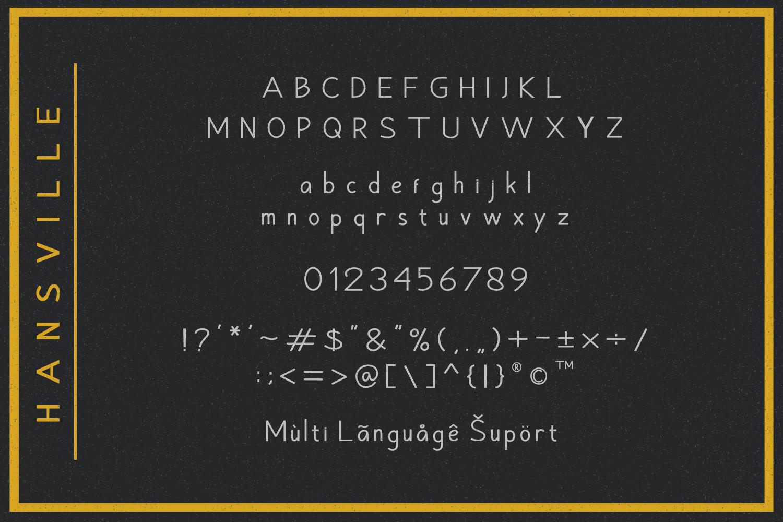 Hansville - Sans Serif example image 7