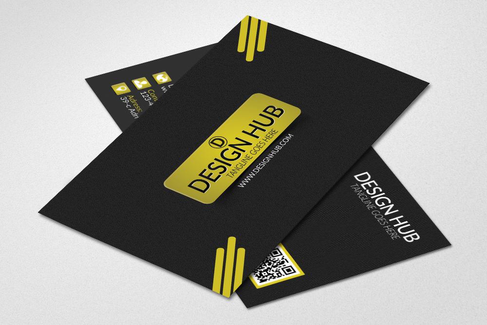 Black Stylish Business Cards example image 2