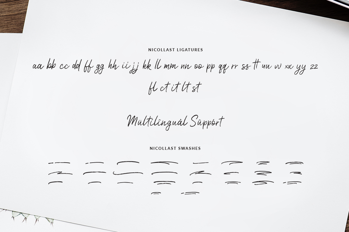 Nicollast Handwritten Brush Font example image 10