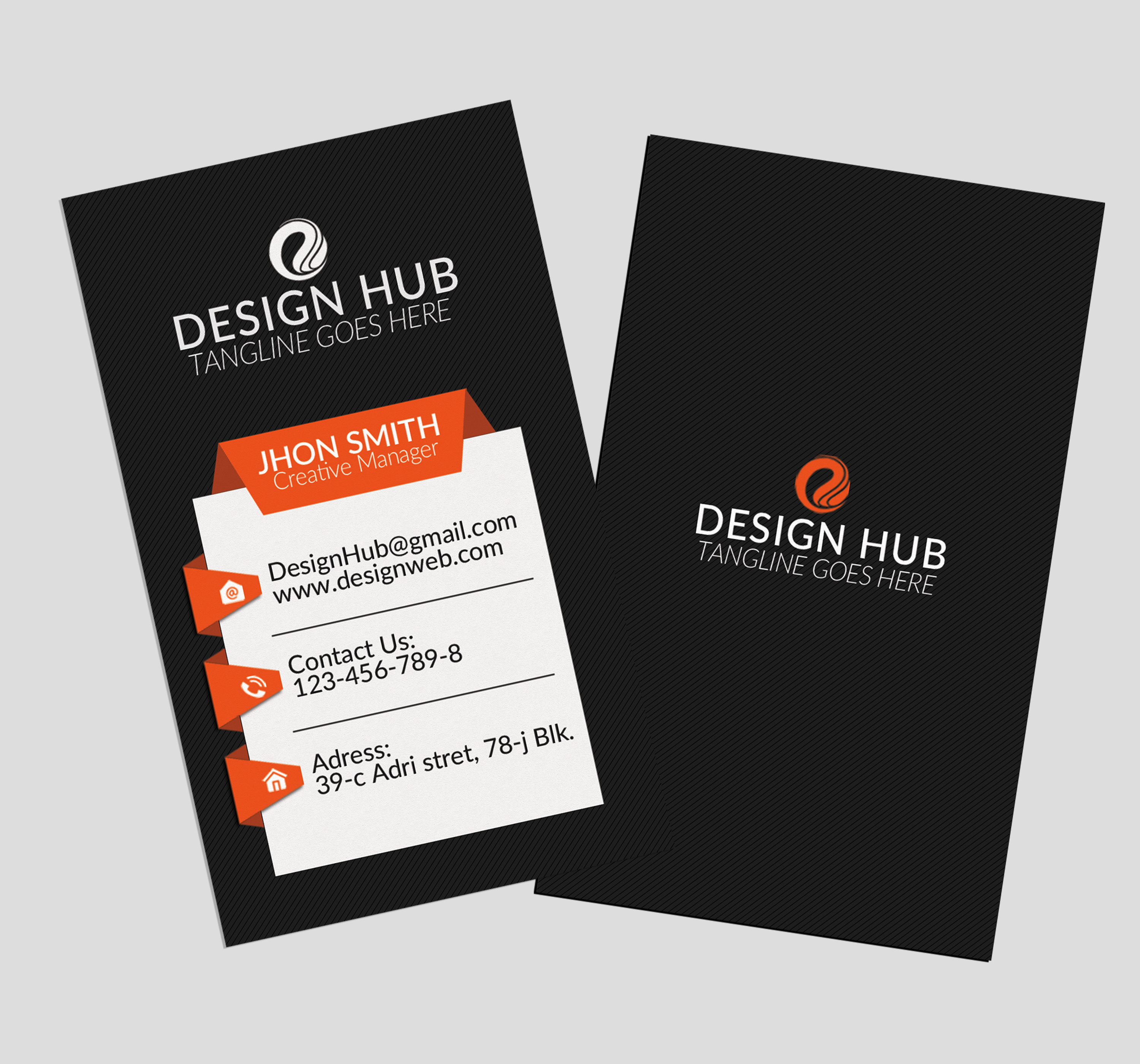Stylish Vertical Business Cards  example image 3