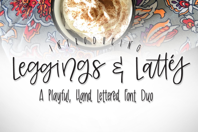 Leggings & Lattes Font Duo example image 1