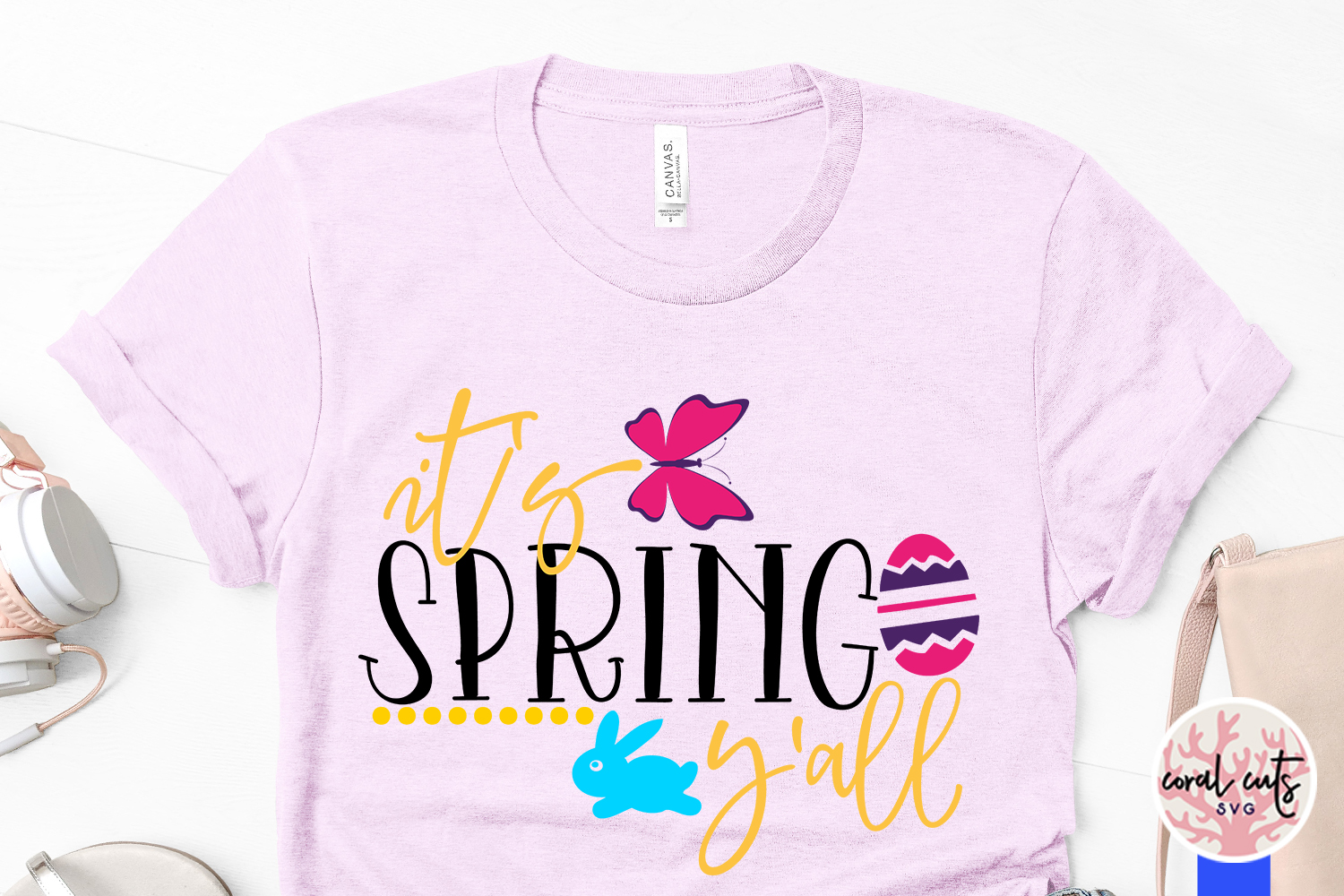 It's spring y'all - Easter SVG EPS DXF PNG Cutting File example image 3