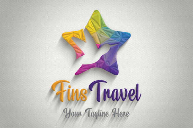 Flying Dove, Travel Logo example image 3