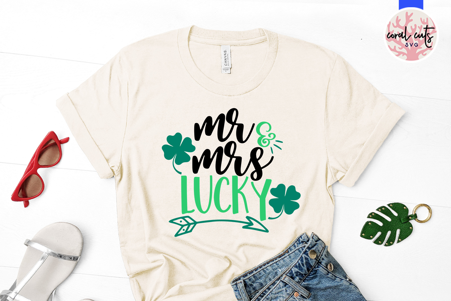 Mr & Mrs Lucky - St. Patrick's Day SVG EPS DXF PNG example image 2