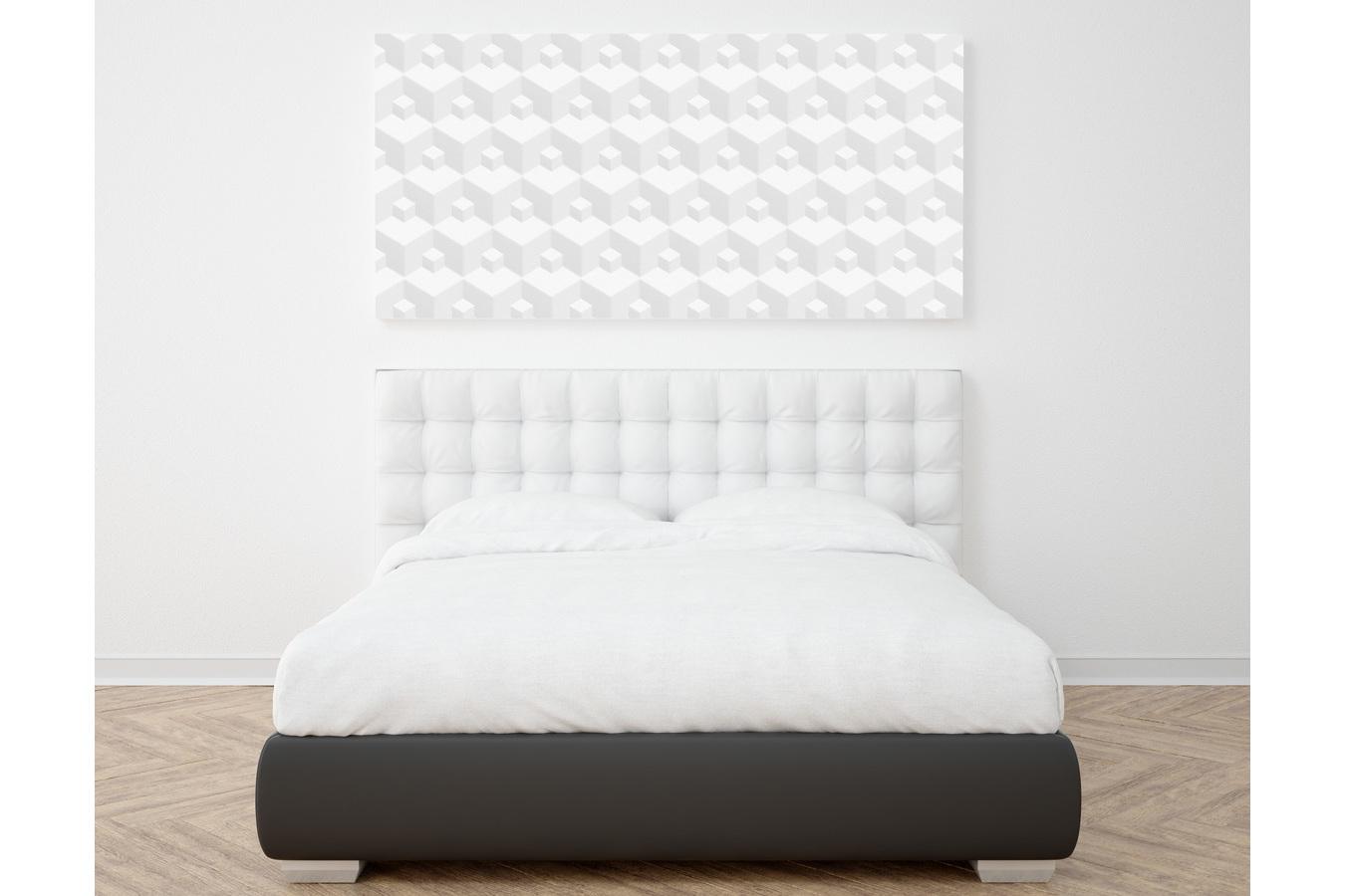 Geometric white 3d seamless textures example image 10