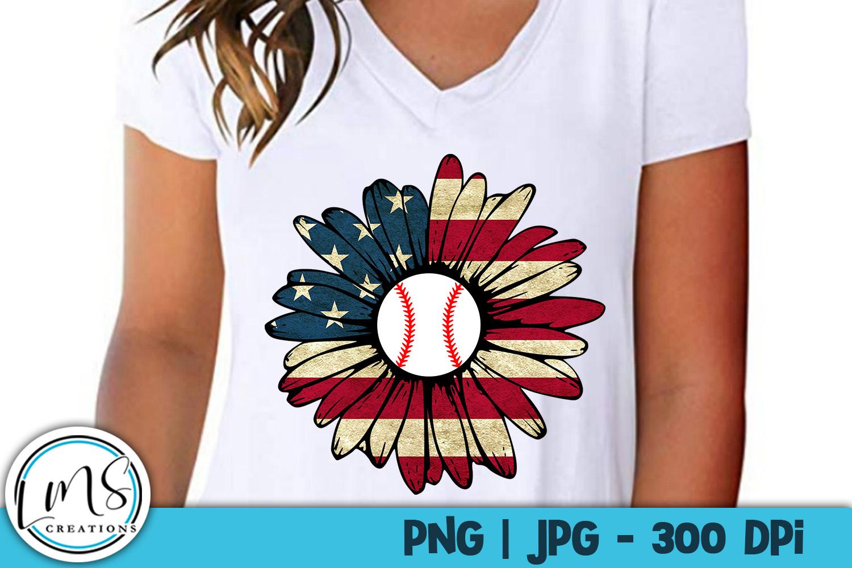 Patriotic Sunflower Sports Bundle PNG, JPG, Sublimation example image 2