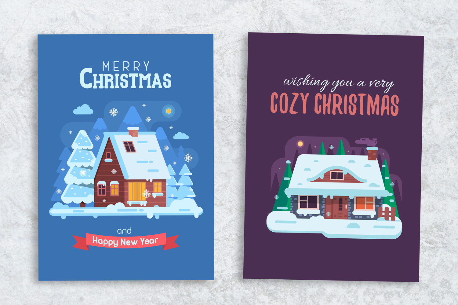 Winter Houses Christmas Cards example image 7