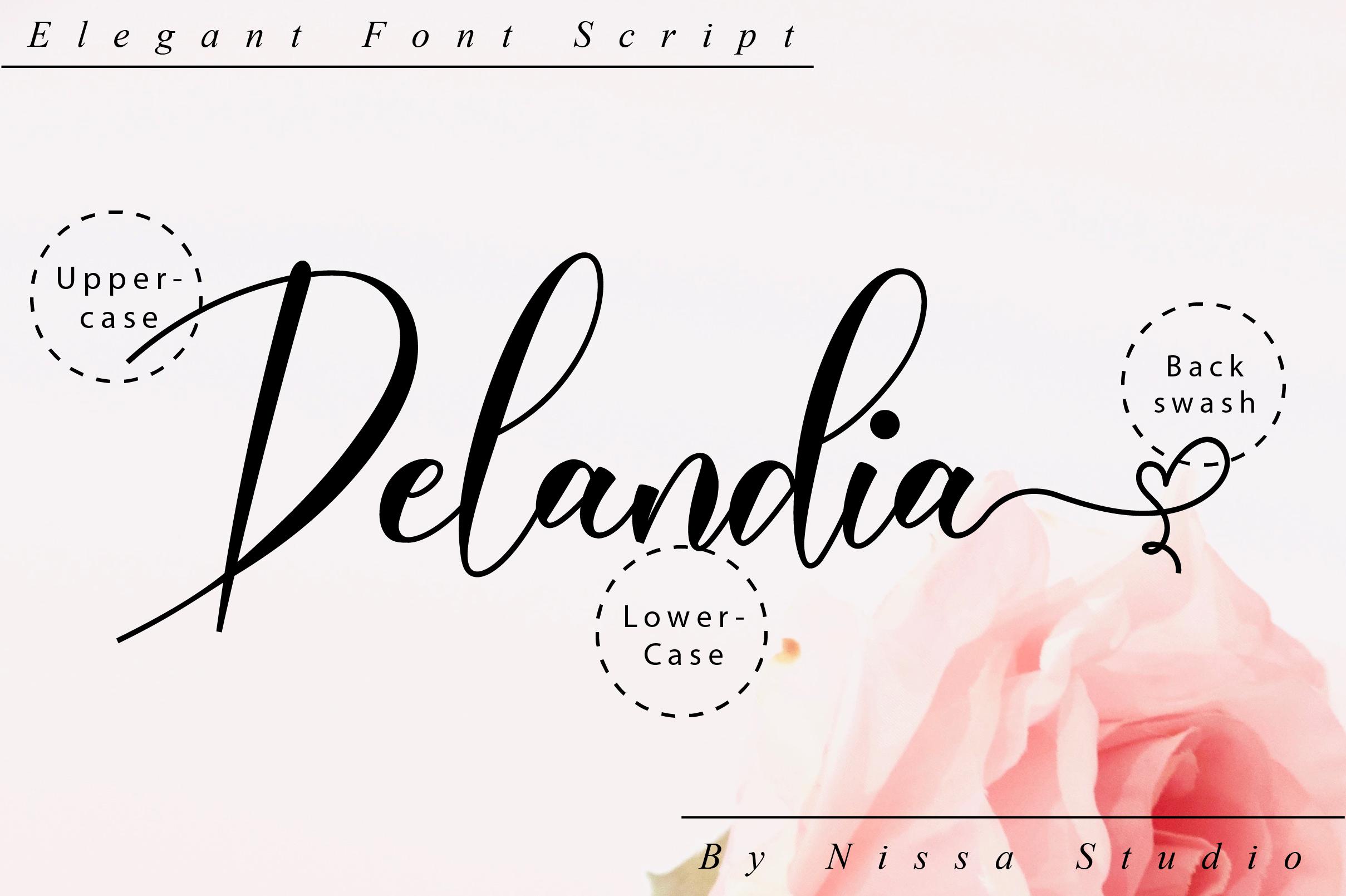 Delandia Script example image 10