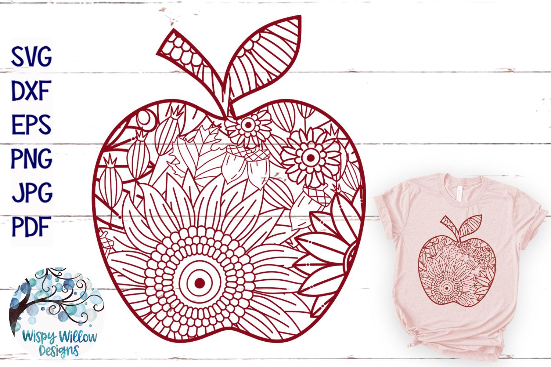 Fall Zentangle SVG Bundle | Fall Mandala SVG Cut Files example image 15