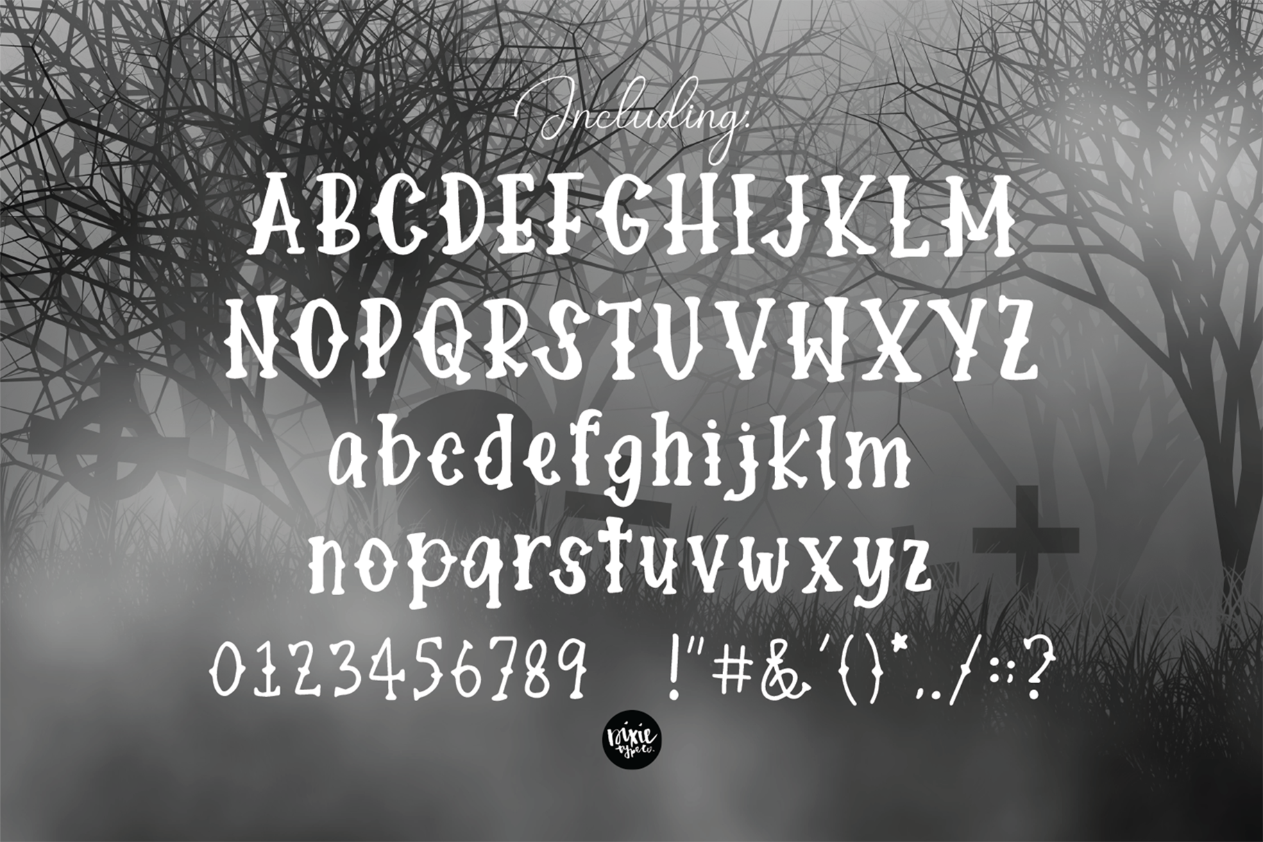 DEFINITELY HAUNTED A Spooky Halloween .OTF Font example image 6
