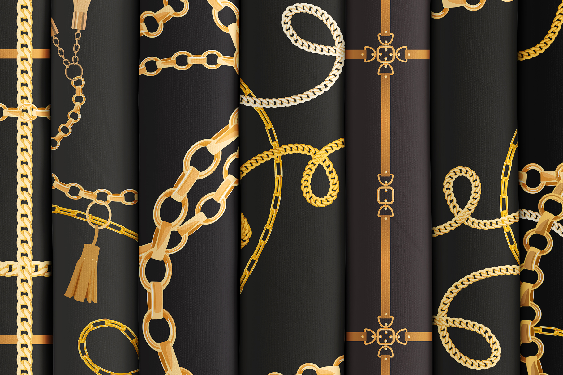 Chains and Belts Seamless Patterns. Set 1 example image 2