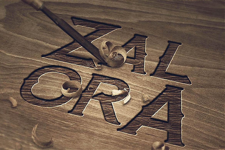 Zalora Typeface example image 5