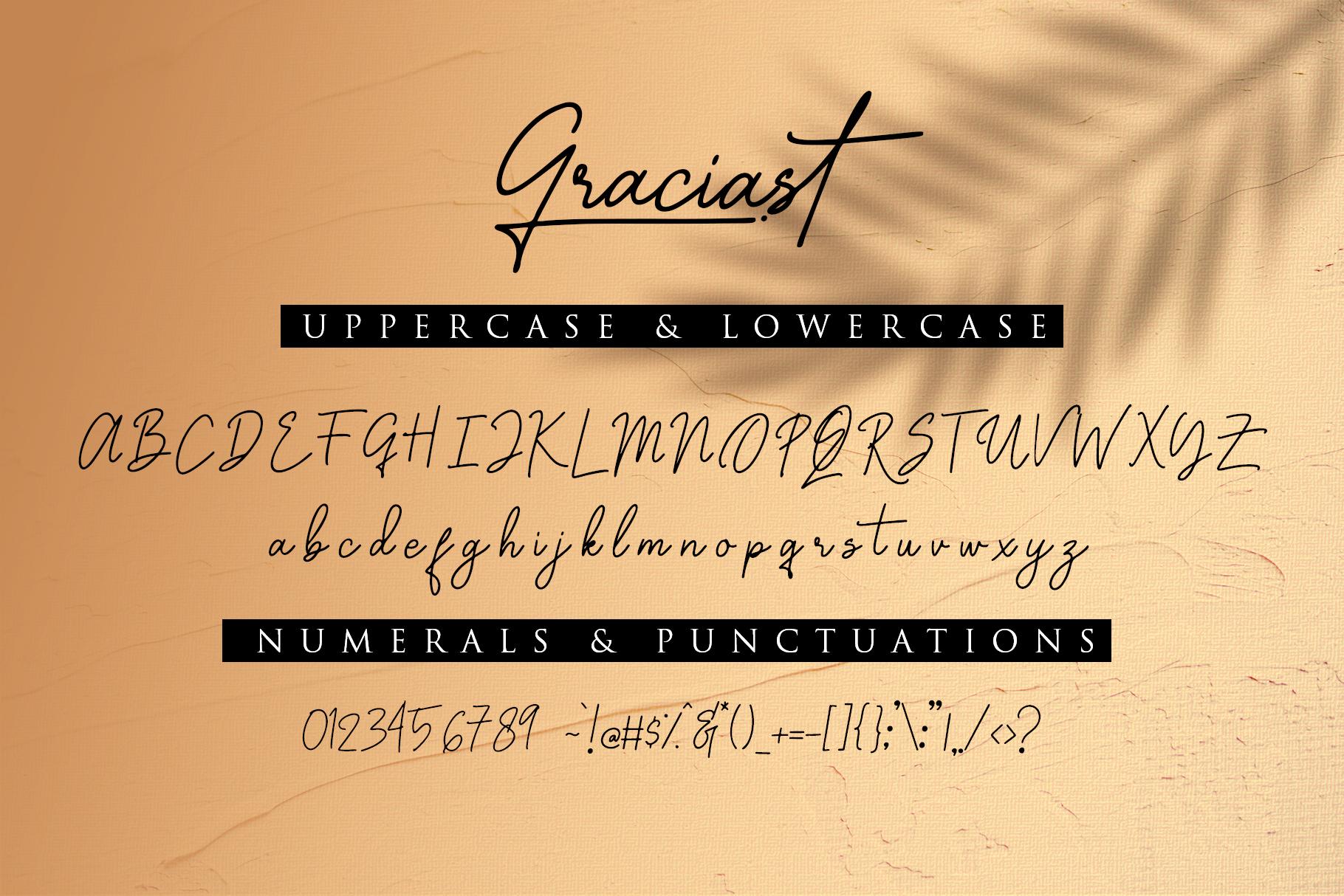 Graciast - Signature Font example image 9