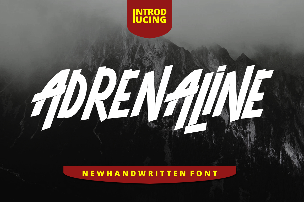 ADRENALINE FONT example image 1