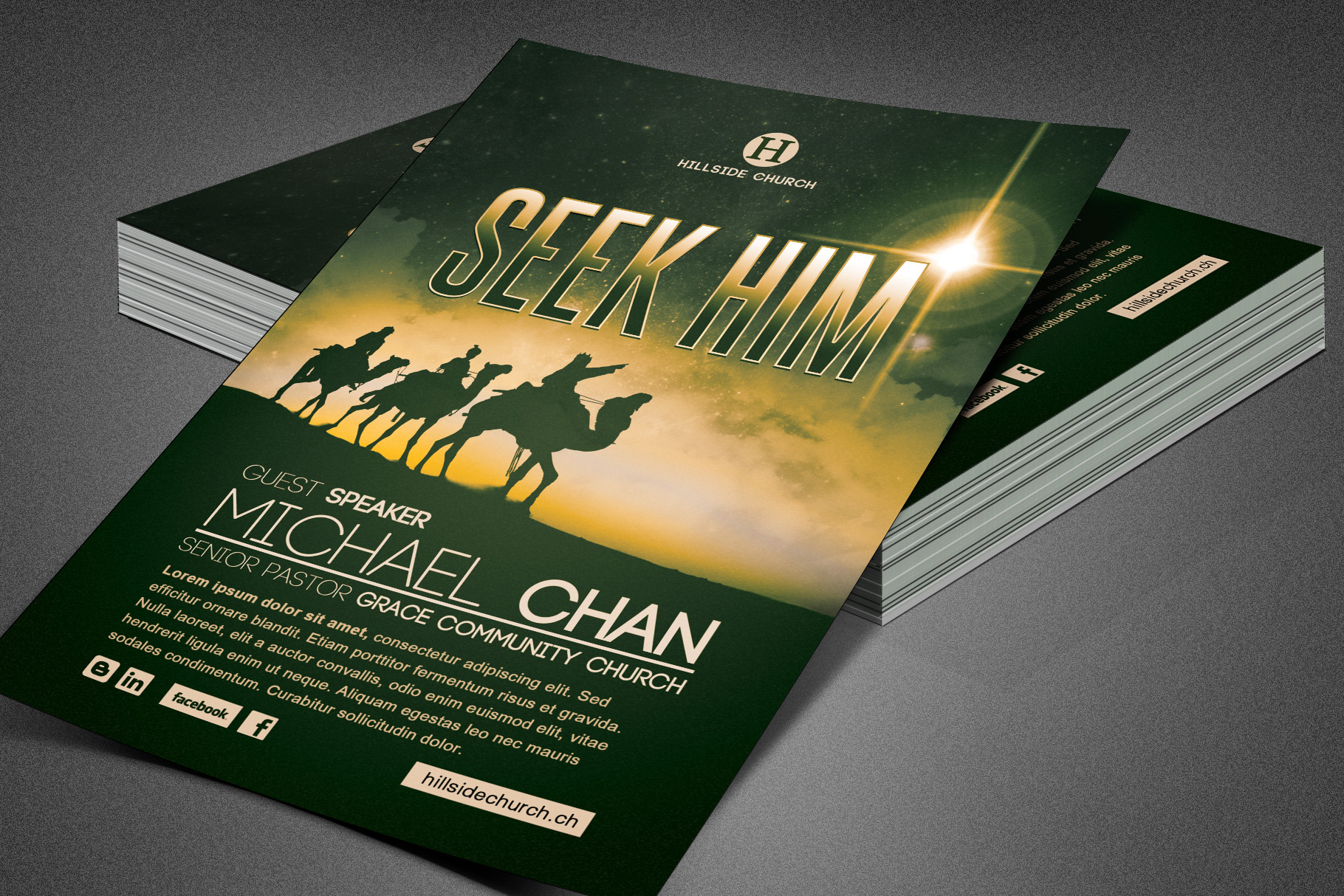 Seek Him Church Flyer Template example image 5