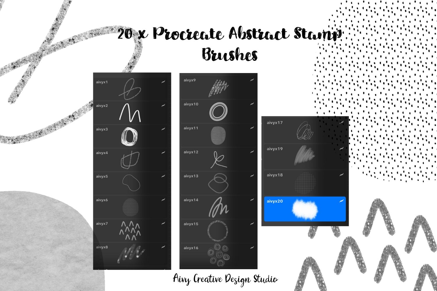 Procreate Abstract Stamp Brushes Set