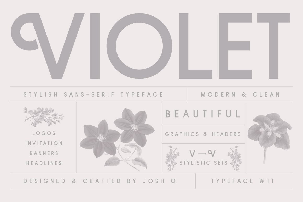 Violet | A Stylish Sans Serif example image 1