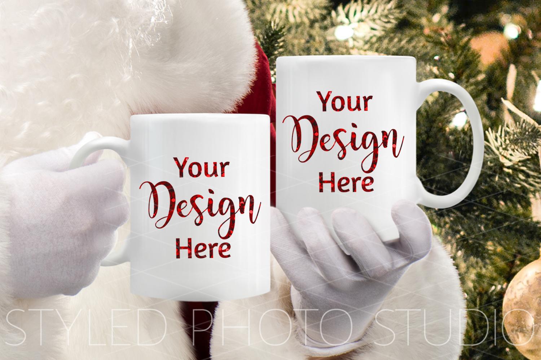 Big Christmas Mockup Bundle, Mug, Ornament, Pillows and More example image 4