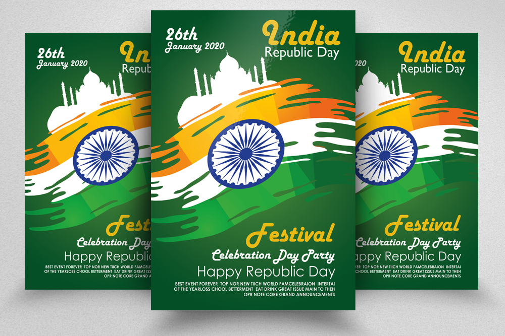 Indian Rebublic Day Festival Flyer Template example image 1