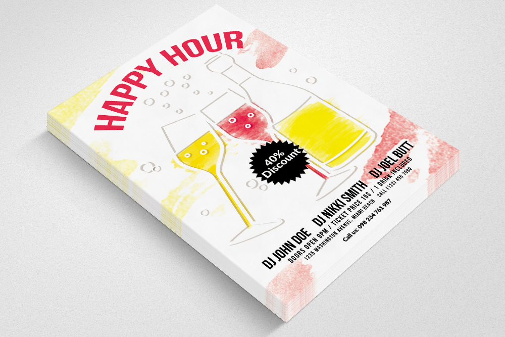 Happy Hour Flyer Template 05 example image 2