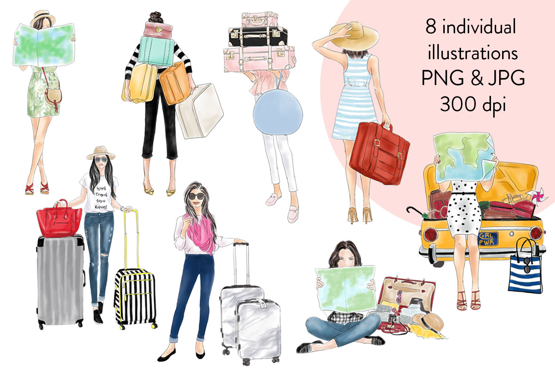 Travel girls fashion clipart example image 2