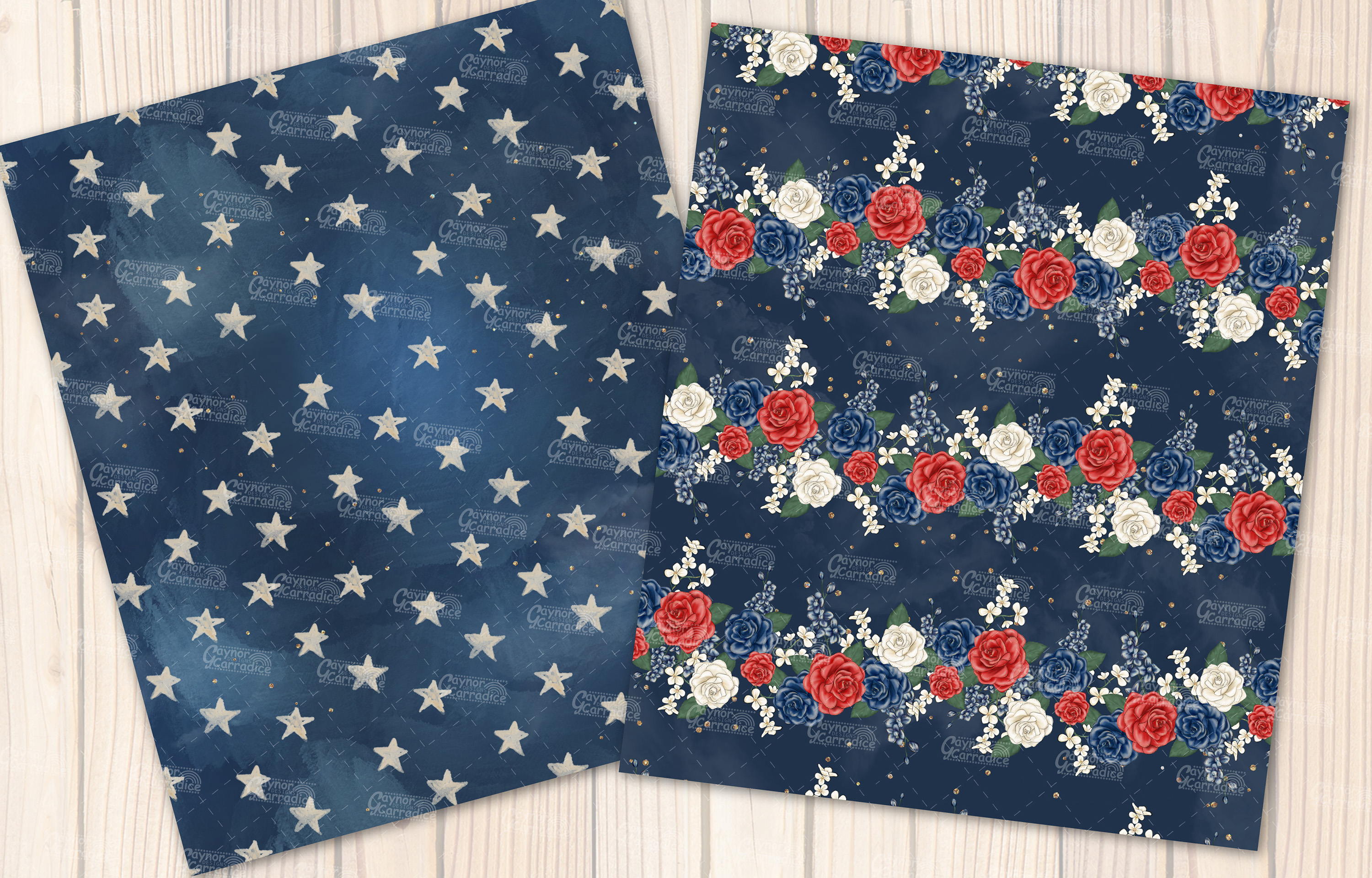 4th of July seamless pattern collection example image 4
