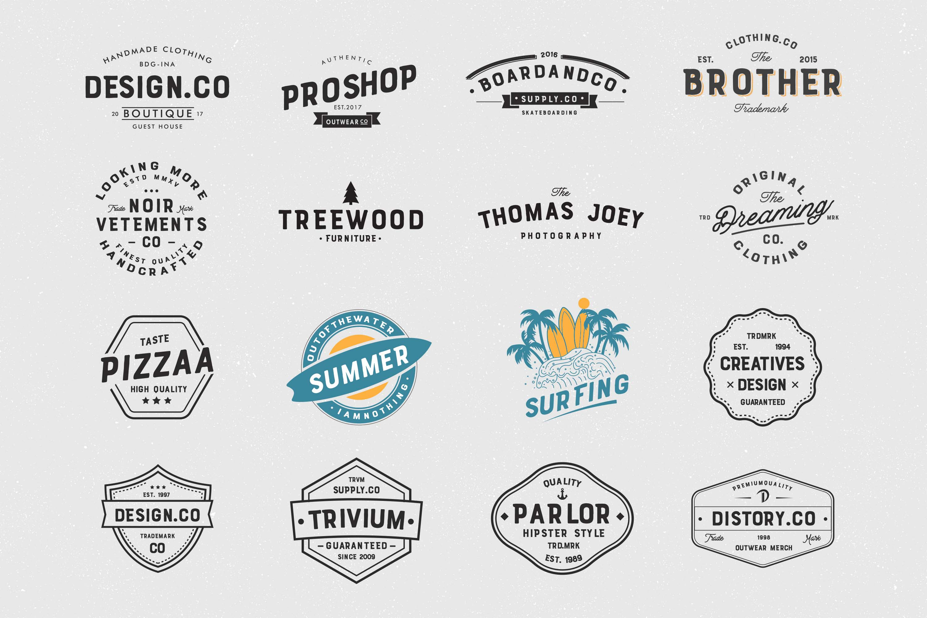 Brother Font Duo + 16 Badges Logo example image 8