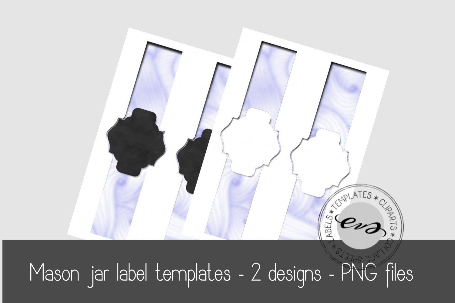 Digital Mason Jar label templates example image 1