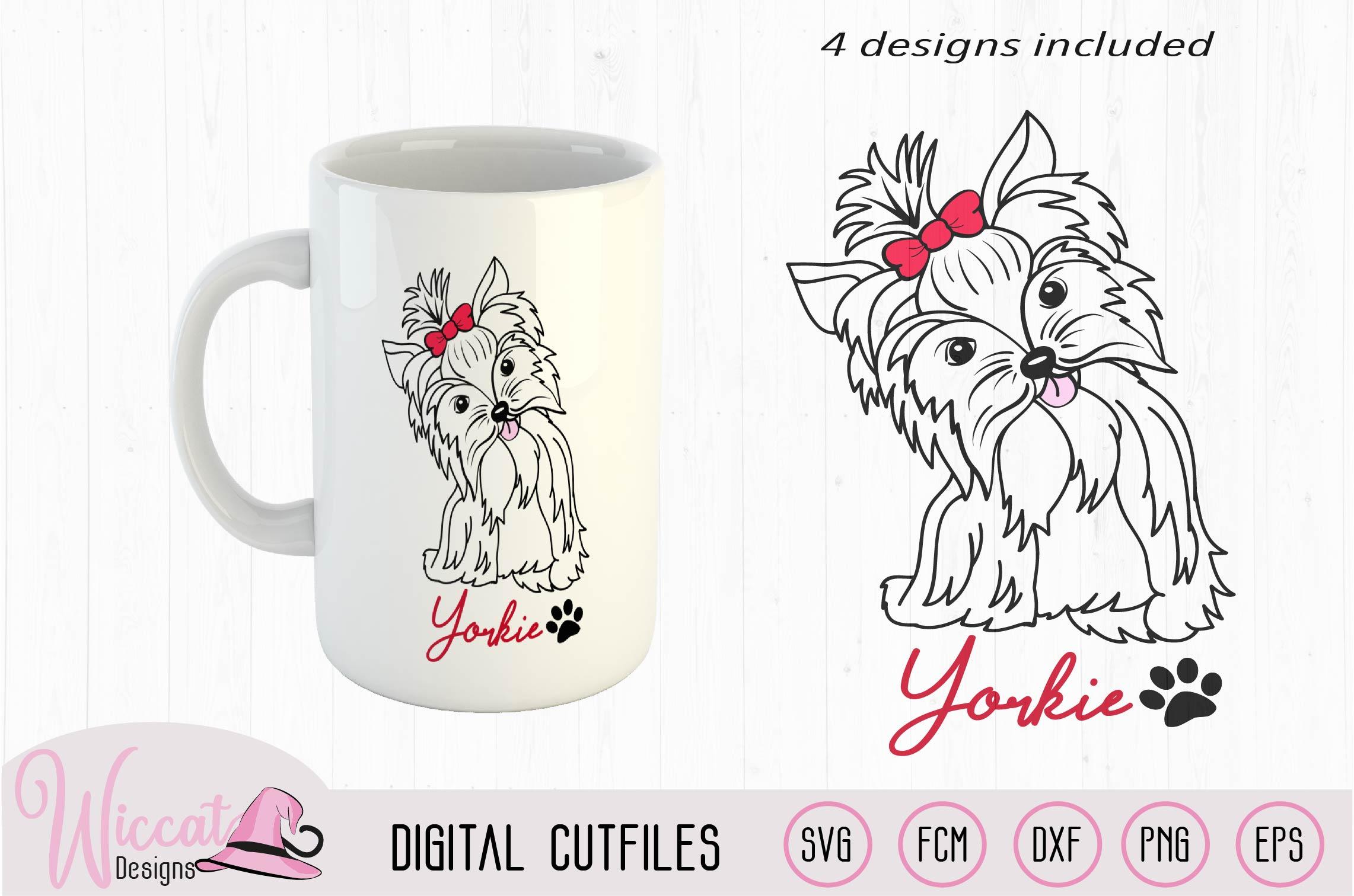 Yorkie svg, Yorkie color svg, Girl dog, girly dog svg example image 2