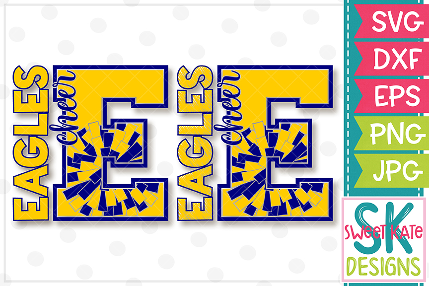 E Eagles Cheer SVG DXF EPS PNG JPG example image 5