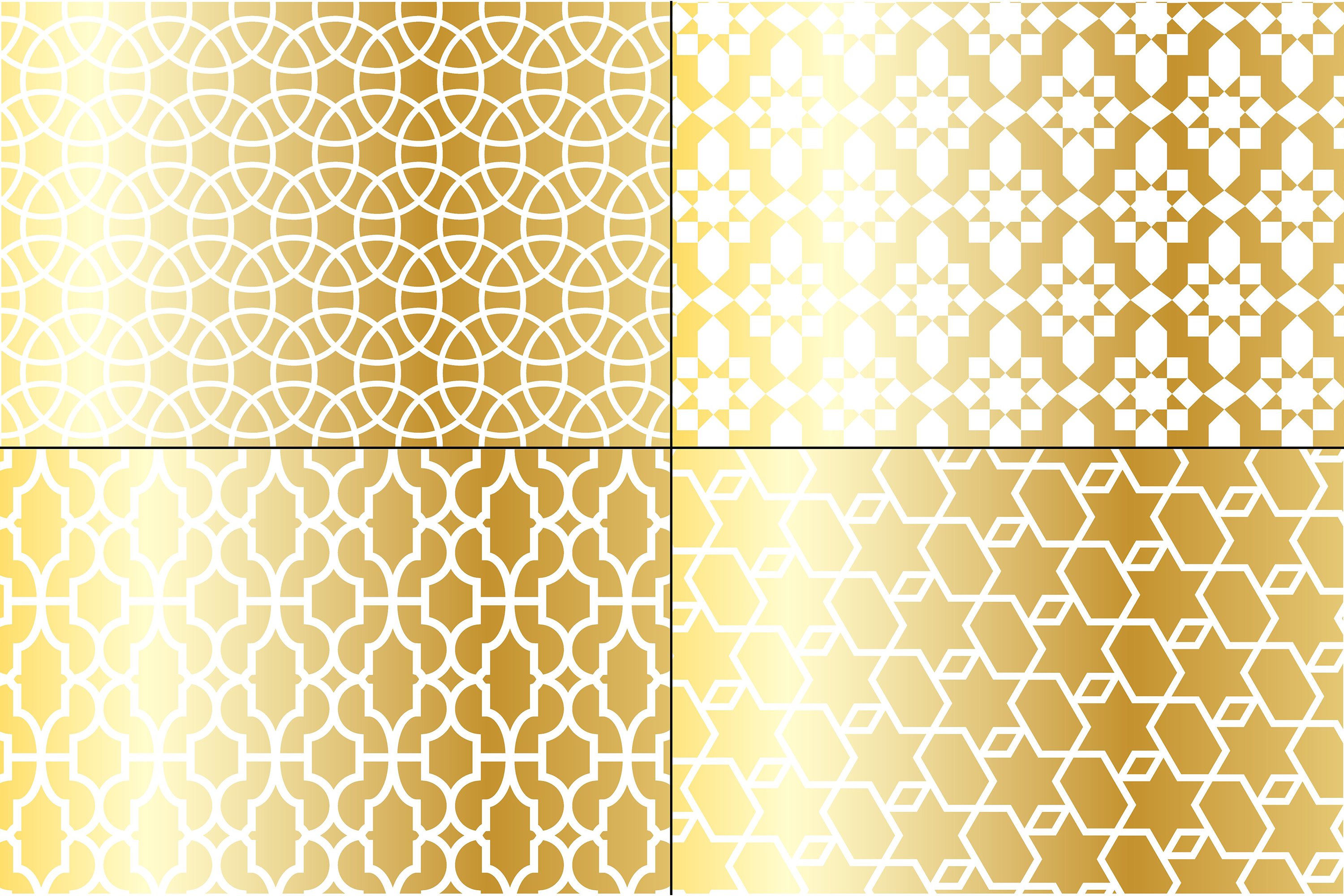Metallic Gold Moroccan Patterns example image 2