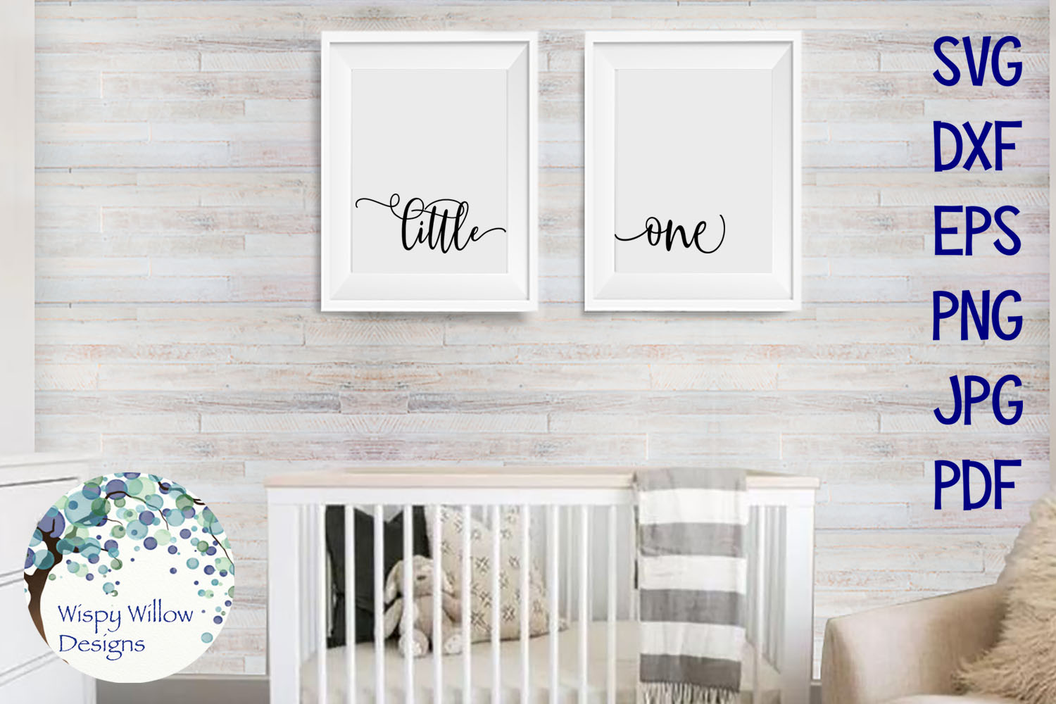 Little One | Baby Nursery Sign SVG Cut File example image 2