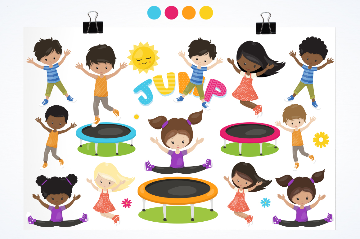 Jump trampoline graphic and illustration example image 3