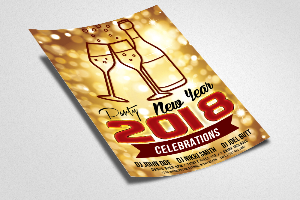 New Year Event Flyer Temp example image 2