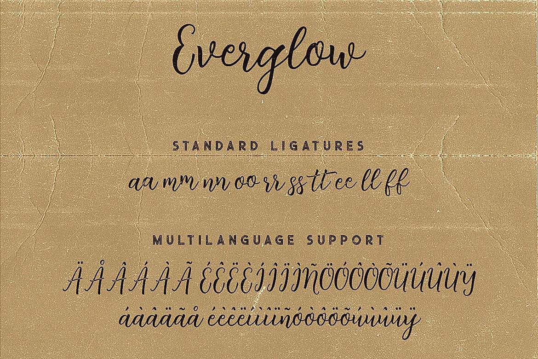 Everglow Script Font Duo example image 9