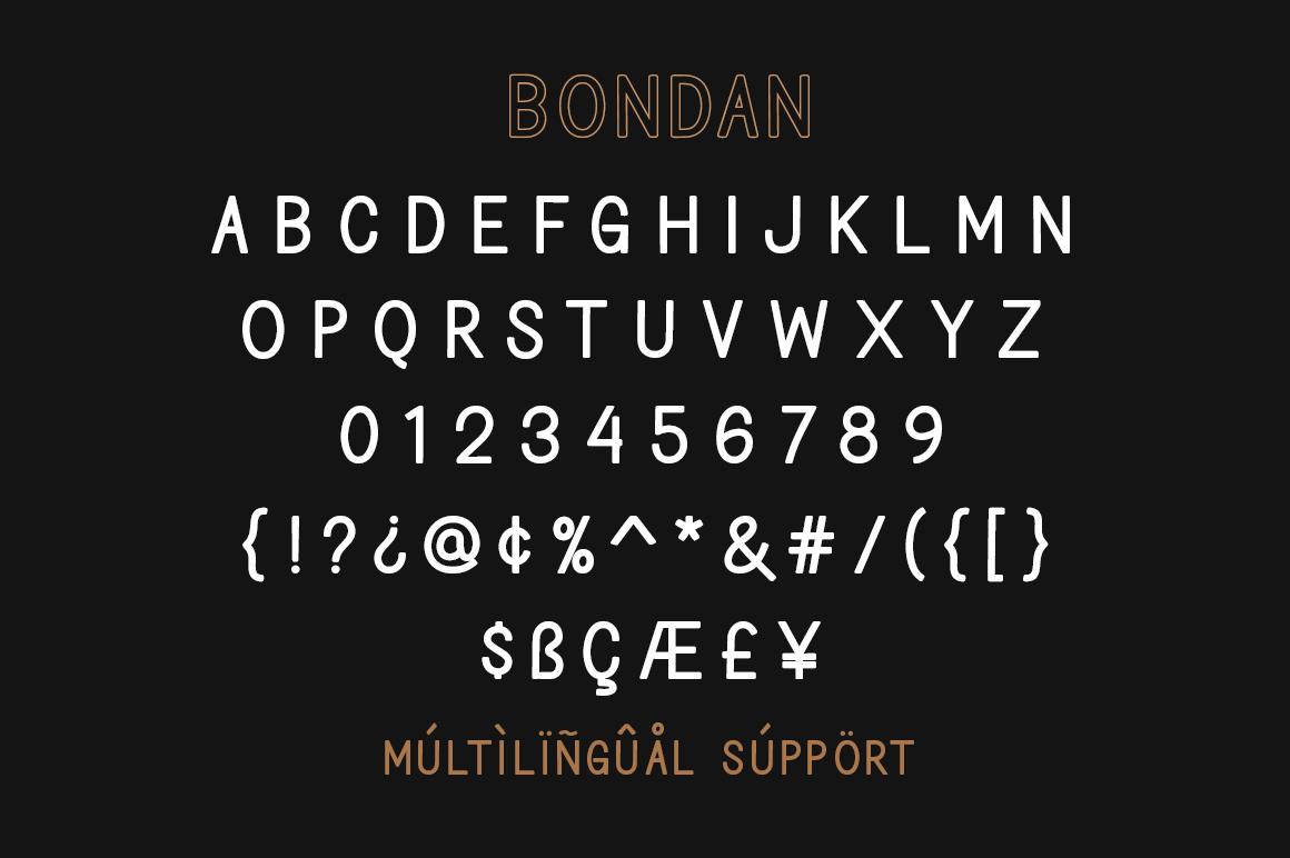 Bondan Typeface example image 7
