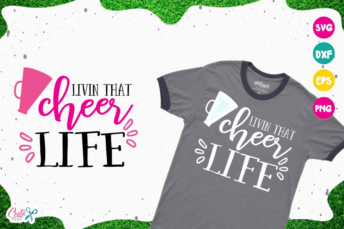 Livin thar cheer life, sport cut files for craftter example image 1
