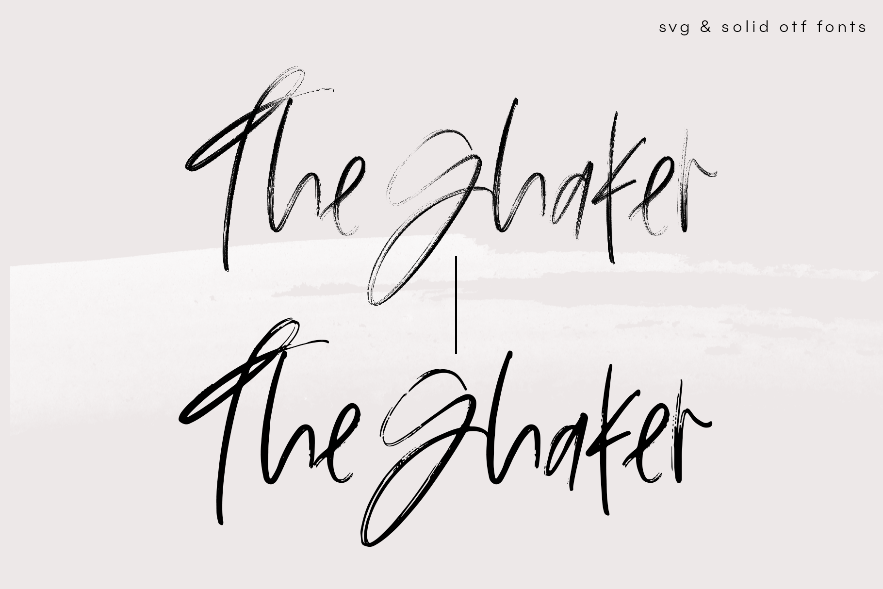 The Shaker - SVG & Regular OTF Brush Font example image 6