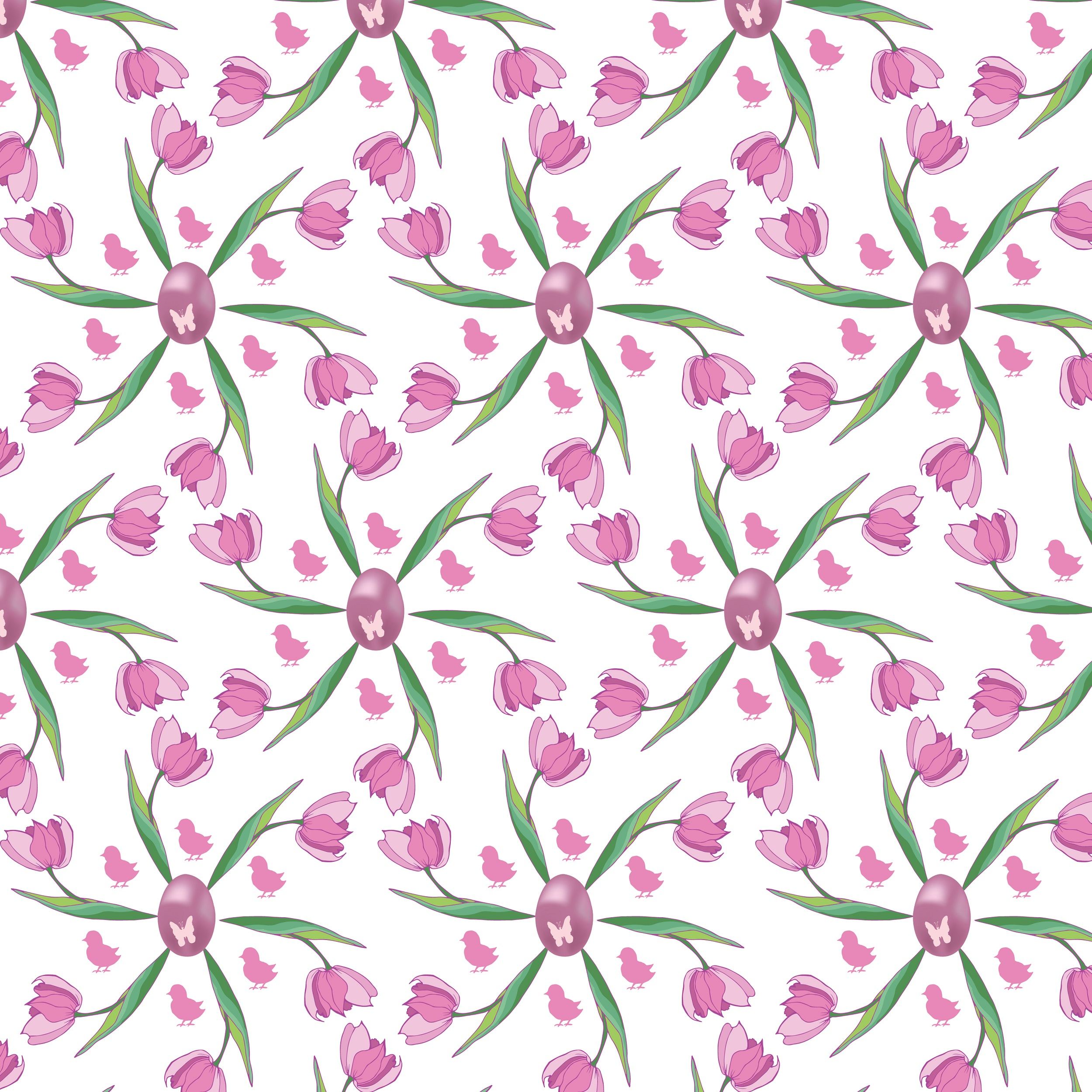 Easter pattern. Seamless pattern with Easter motifs. example image 8