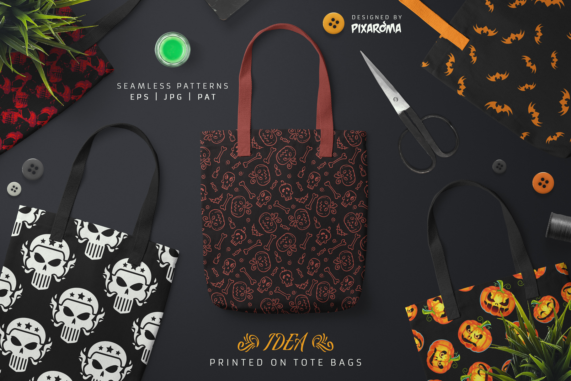 100 Seamless Patterns Vol.3 Halloween example image 6