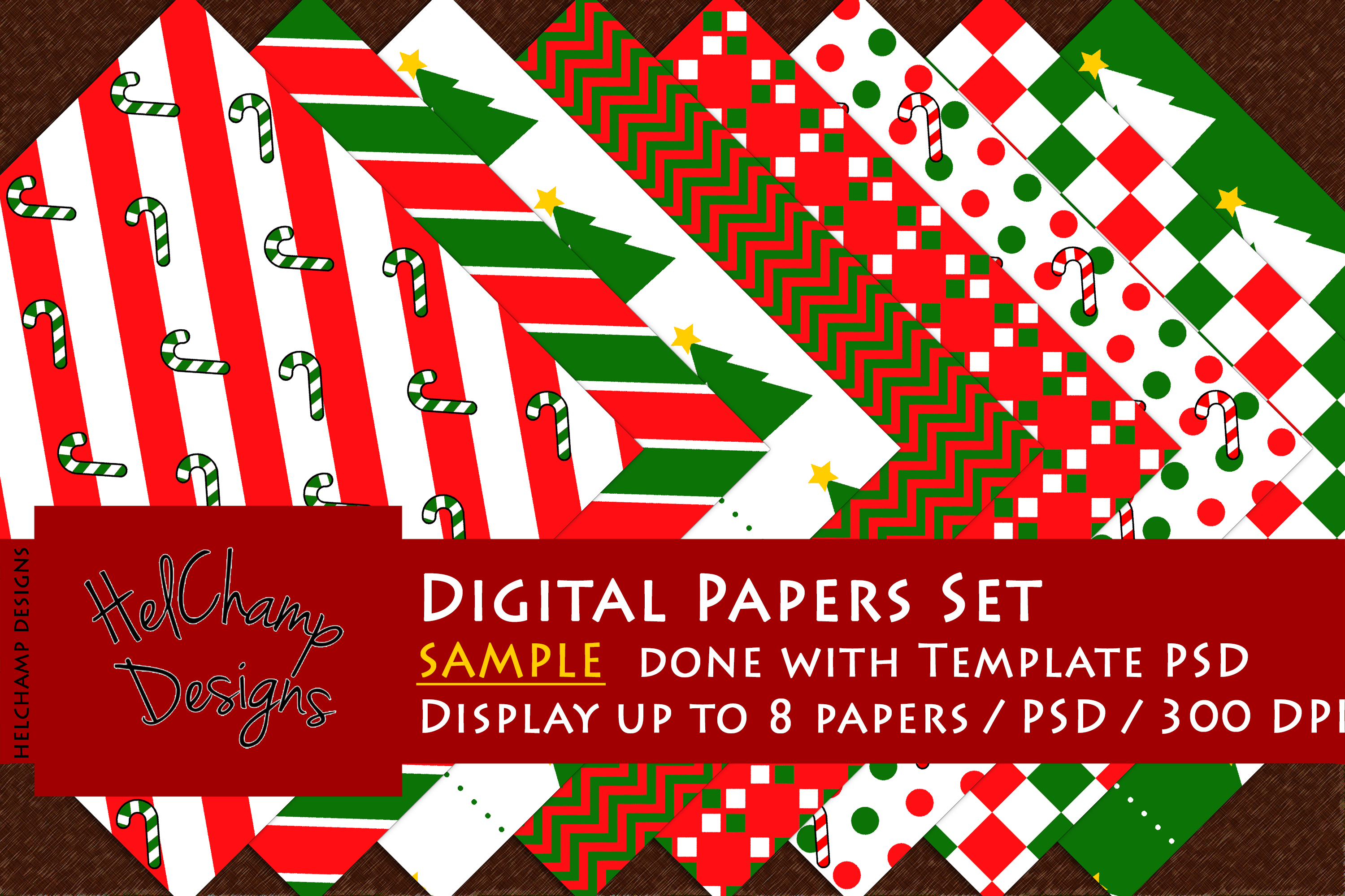 1 to 8 Panels Mockup for Digital Papers - M03 example image 5