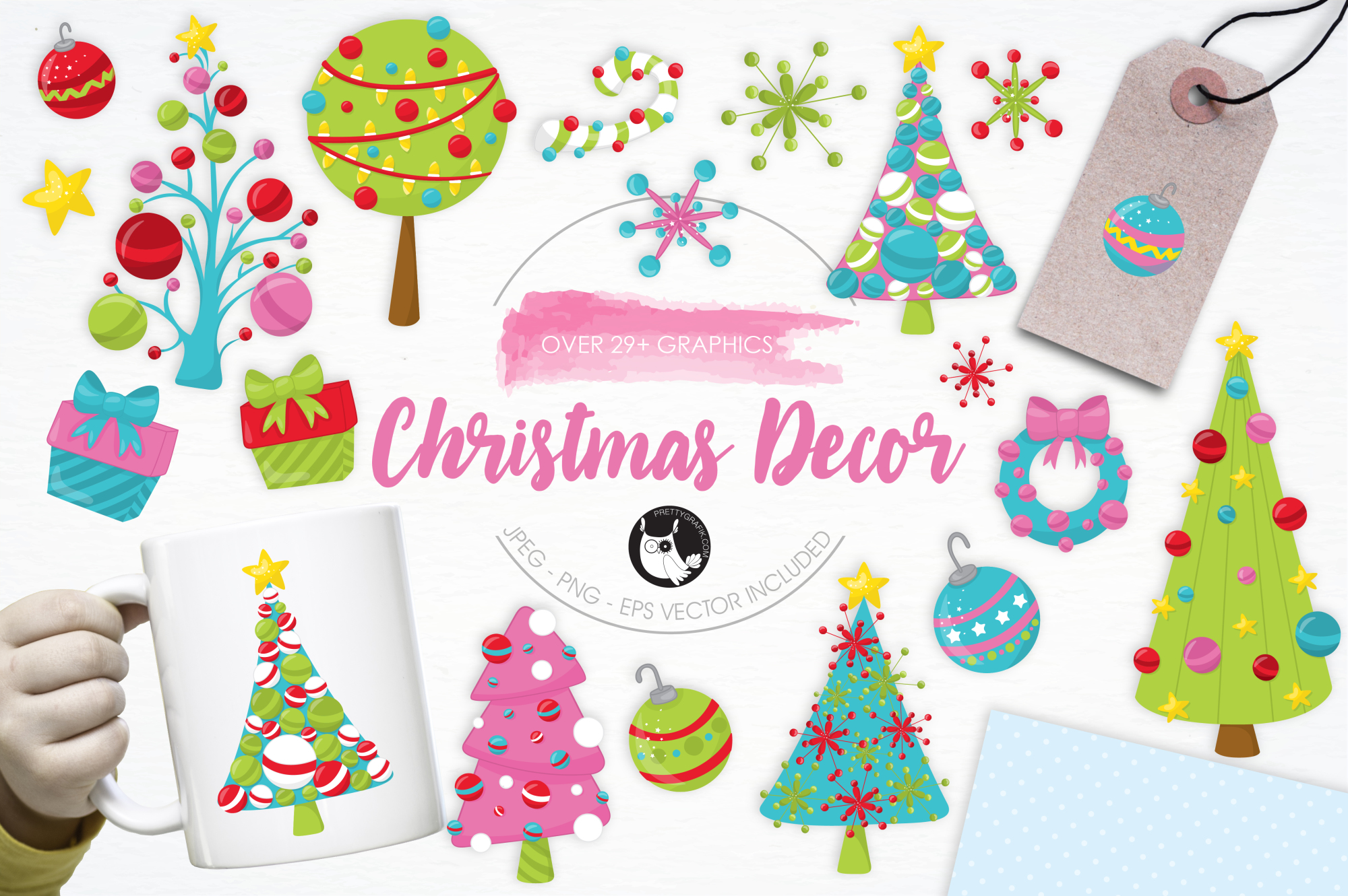 Christmas Décor graphics and illustrations example image 1